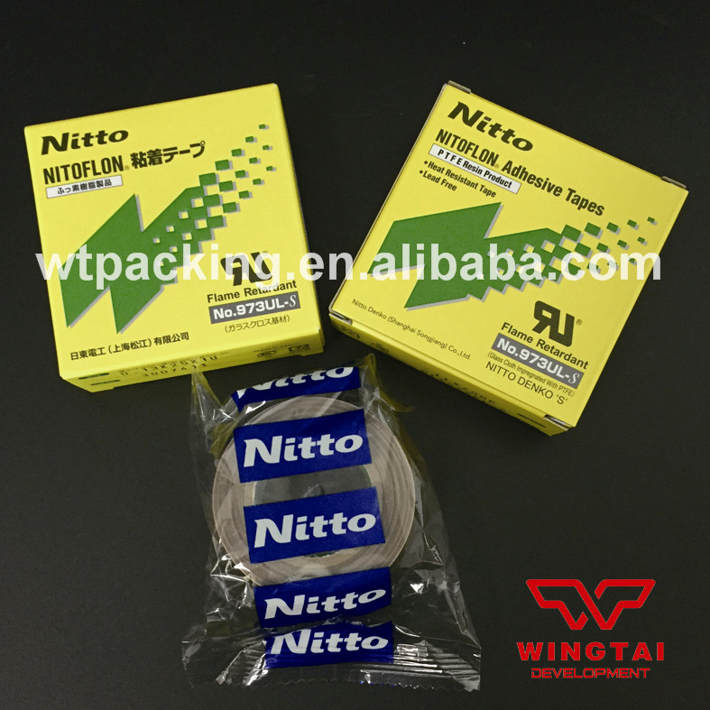 T0.13mm*W25mm*L10m Glass fiber cloth NITTO DENKO 973ul-s Silicone Adhesive Tapes(China (Mainland))