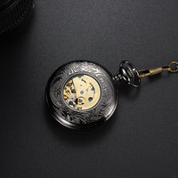 High Quality Antique Skeleton Mechanical Pocket Watch Men Luminous Dial Hollow Vintage Hunger Games Pocket Watches Silver P40