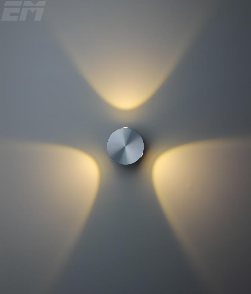 Здесь можно купить  2Pcs Per Lot Led Wall Sconce Wall Mounted Crystal Convex Lens 60*60*60mm Aluminum 9W Spot Light Led Bed Lamp Wholesale Price  Свет и освещение
