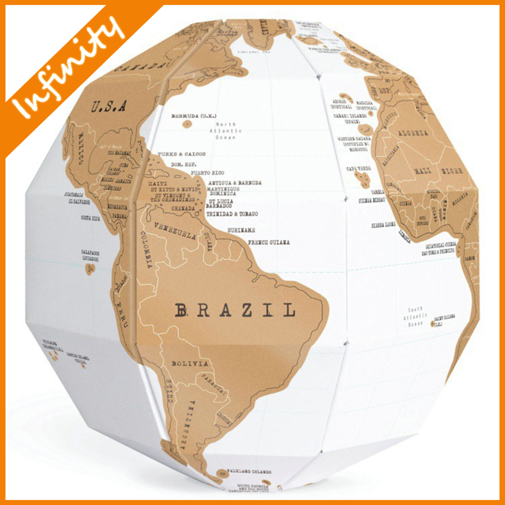 NEW Traveling Memory DIY Gift 3D Globe World Map Build Explore Scratch Map