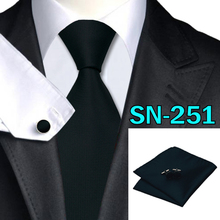 40 Style Tie hanky cufflink Sets 2015 Fashion 100% Silk Neckties Ties for mens gravata  For Wedding Party Business Free Sh