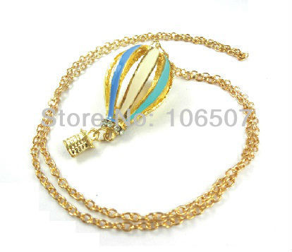 free shipping 10pcs dream Colorful fire balloon necklace beautiful choker necklace trendy sweater chain fashion low price new