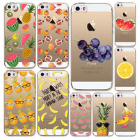 Back cover For Apple iPhone 6 6S Case Silicone 6 6s Series Watermelon Fruits Case Cover Soft Transparent Case covers back skin