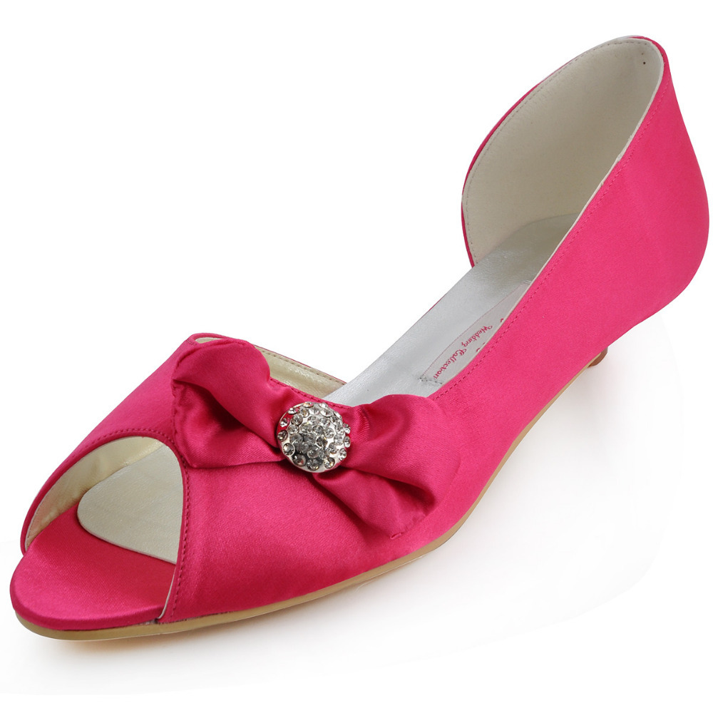Fuschia Pink Mid Heel Shoes