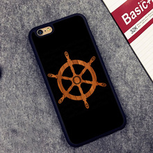 Wooden Ship Steering Wheel Sailboat Printed Phone Case Skin Shell For iPhone 6 6S Plus 7 7 Plus 5 5S 5C SE 4S Rubber Soft Cover(China (Mainland))