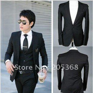 black leisure suit