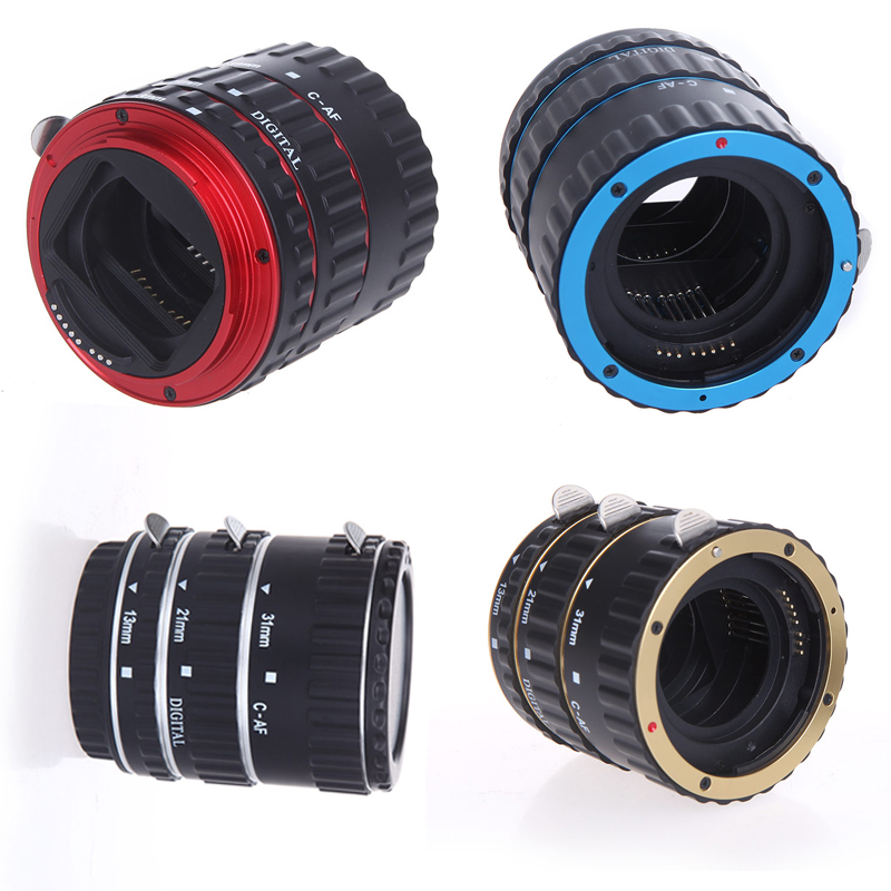 Oversea Stock Andoer Metal TTL Auto Focus AF Macro Extension Tube Ring Lens Adapter Ring for Canon EOS EF EF-S All Lenses(China (Mainland))