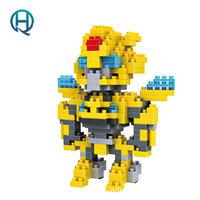 Mini Nano Blocks Transformations LOZ Building Blocks Bumblebee Action Figure Diamond Blocks Compatible Legoelieds 9401