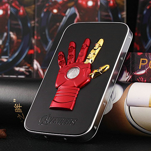 Cool Batman Battery Portable Charger Iron Man 6000mAh Universal power bank charger for iPhone 6 6 plus 5S ipad all cell Phones