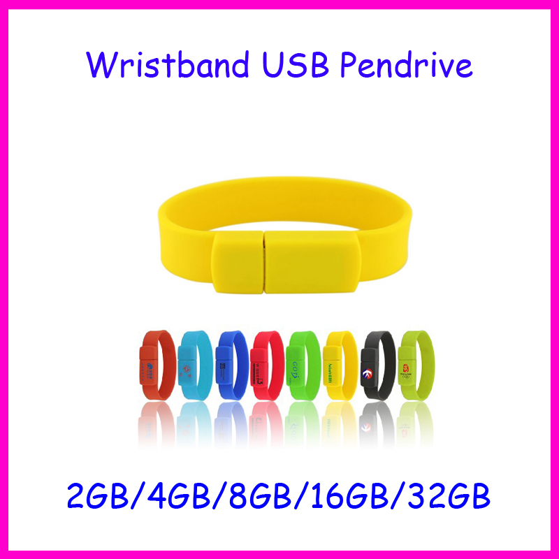 ! 16GB USB Disk High Speed USB2.0 silicone wristband usb disk bracelet Flash Drive 4GB 8GB 32GB - Ashintar Store store