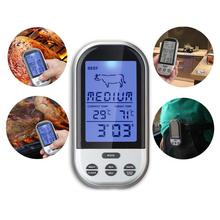 Programmable Wireless Remote Digital Thermometer Probe Meat BBQ Grilling Kitchen Cooking Food Meat Thermometer outdoor A609 APJ(China (Mainland))