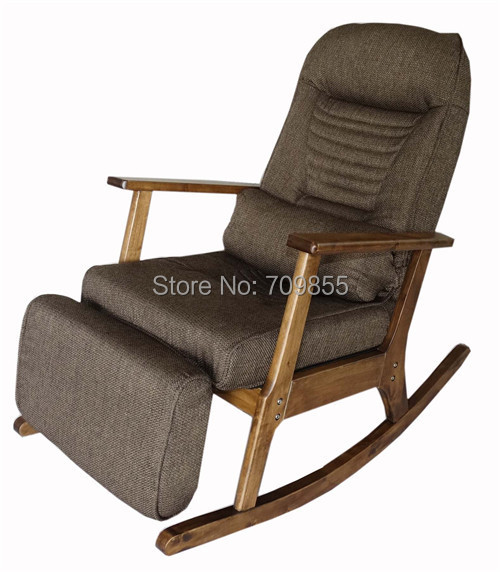 Garden Recliner For Elderly People Japanese Style Chair Recliner Chair with Footstool Armrest Modern Indoor Wooden Rocking Chair<br><br>Aliexpress