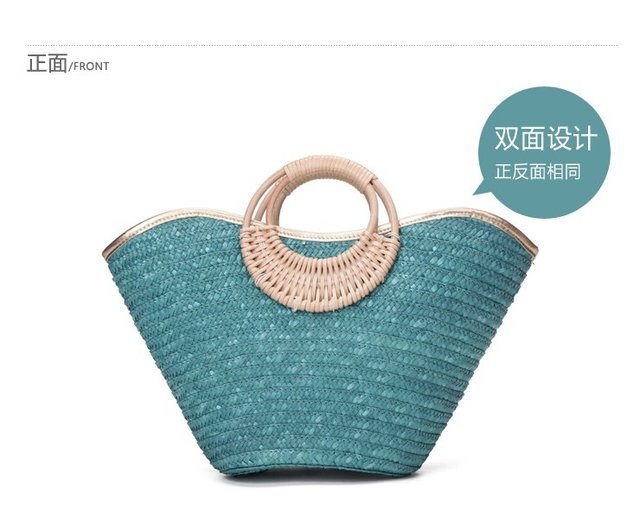 2012 new fashion  straw handbag/Beach totes in Bump color  in summer- for wholesale South Korea style,shoulder bag