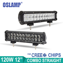 Oslamp 120W 12inch CREE Led Chips Light Bar 5D Auto LED Bar OffRoad SUV Combo Work Light for Car Driving Led Light Bar Boat ATV(China (Mainland))