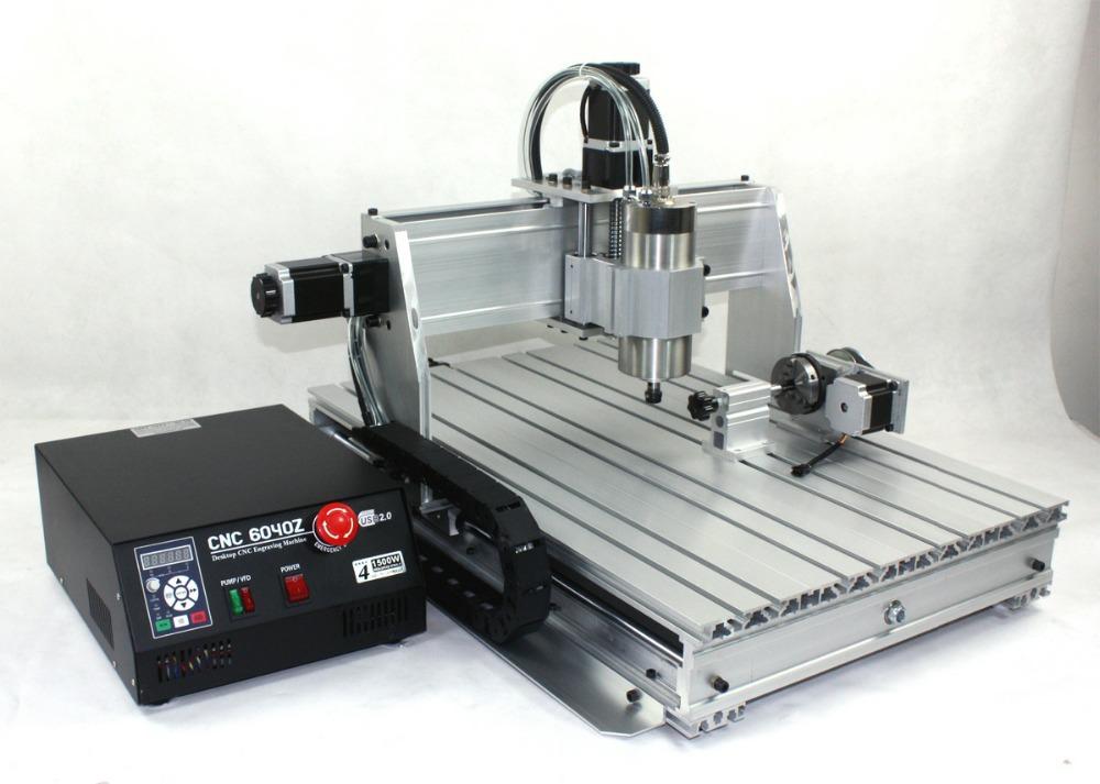 2015 vente CNC routeur Machine à bois tour nouveau 6040 1500 w 4 axes  ~ Fraiseuse Cnc Bois