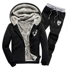2015 Fall New Men's Baseball Suit Sports Fashion Hooded Tracksuit High Quality Thickened Velvet Hoodies Wholesale(China (Mainland))