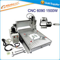 Free Shipping CNC 6090 Z-VFD 1.5KW 4 axis 3d cnc engraving machine milling machine woodworking router