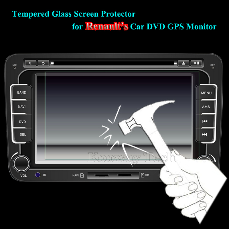 152*85/176*99/175*97MM Available Glass LCD Guard for Renault X3 X5 S50 CM7 Car GPS Video DVD MP4 Tempered Glass Screen Protector(China (Mainland))