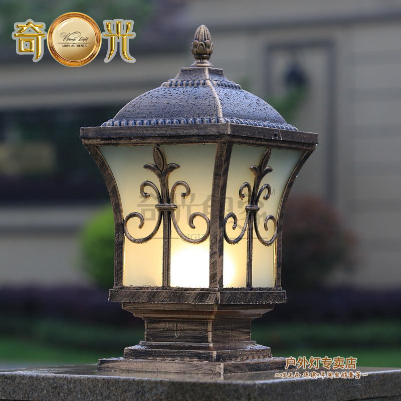 Wall light column head wall light square pillar lamp the door fashion outdoor lamp(China (Mainland))