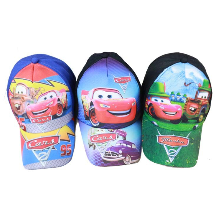 free shipping ! new brand Explosion models selling 95 cars cartoon children hat baseball cap boy cap 3-10(China (Mainland))