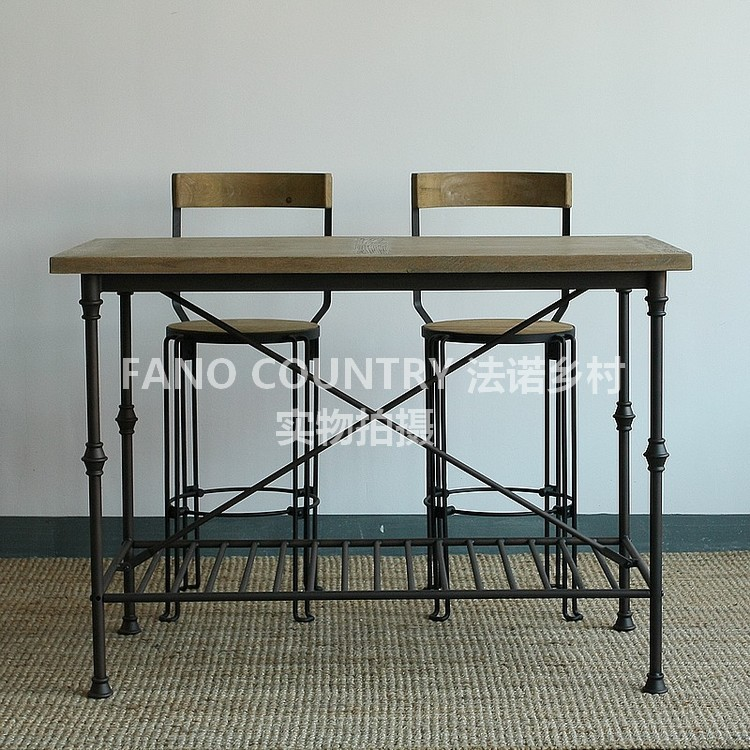 American iron wood conference tables and chairs leisure for Balcony restaurant group