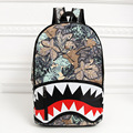 Shark Teeth Pattern Monster New Han Edition Tide Portable Canvas Bag for Men and Women Fashion