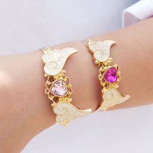 Fashion, the new imitated crystal love dream wings Girls bracelet Pandora bracelet 2016 free shipping direct manufacturers(China (Mainland))