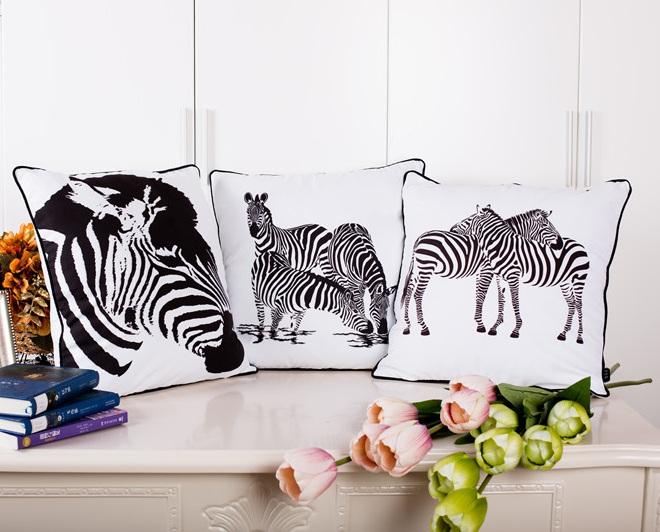 z bre coussin couvre achetez des lots petit prix z bre coussin couvre en provenance de. Black Bedroom Furniture Sets. Home Design Ideas