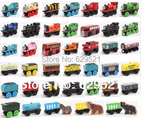 Thomas Train Car wooden Complete set of car toy train toys (1set=10pcs) free shipping