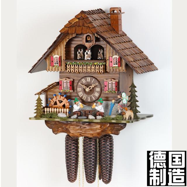 for t noire coucou coucou horloge m canique horloge. Black Bedroom Furniture Sets. Home Design Ideas