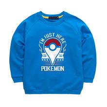 Kids Pokemon Go Hoodie Boys Girls Long Sleeve Clothing Hooded Kids Clothes Sweatshirt Children Autumn Tops T shirt