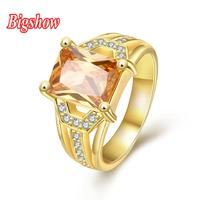 New arrival men ring zircon stone CZ crystals 24k yellow gold rose gold plated jewelry R389-A-8