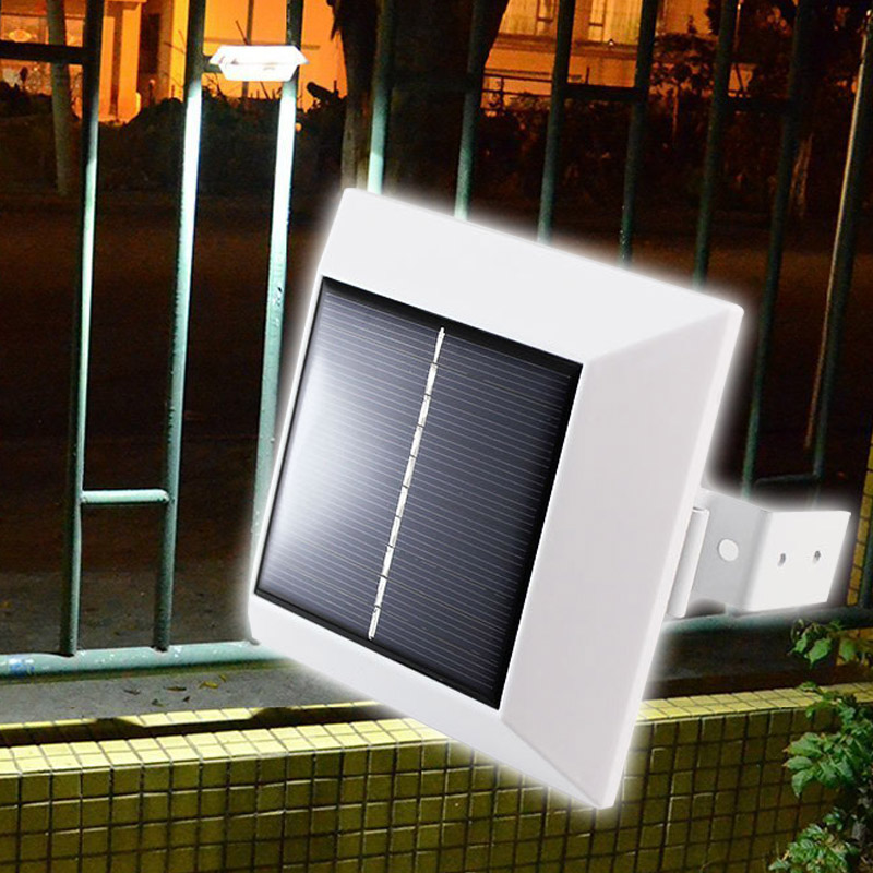 4 LED Solar Powered Induction Sensor Light Outdoor Roof Gutter Fence Garden Yard Lawn Wall Pathway Driveway Led Lamp  <br><br>Aliexpress