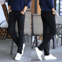 Celana pria 2016 merek Fashion pakaian celana panjang kasual pria Celana pelari Slim Fit lurus celana