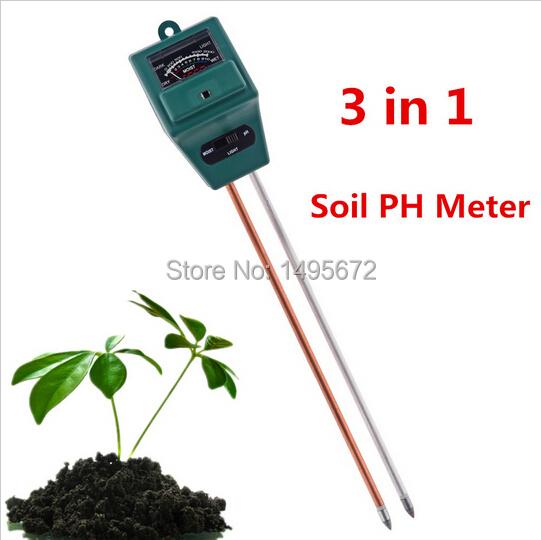 1Set Flowers Soil Test Kits 3 in 1 Plant PH Tester Illuminance Analyzer Moisture Meter Light(China (Mainland))
