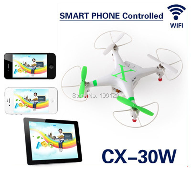 Cheerson CX-30W WIFI RC Quadcopter Helicopter Wifi Smart Phone Control Drone With HD Camera Real-Time Video WIFI RC Quadcopter(China (Mainland))