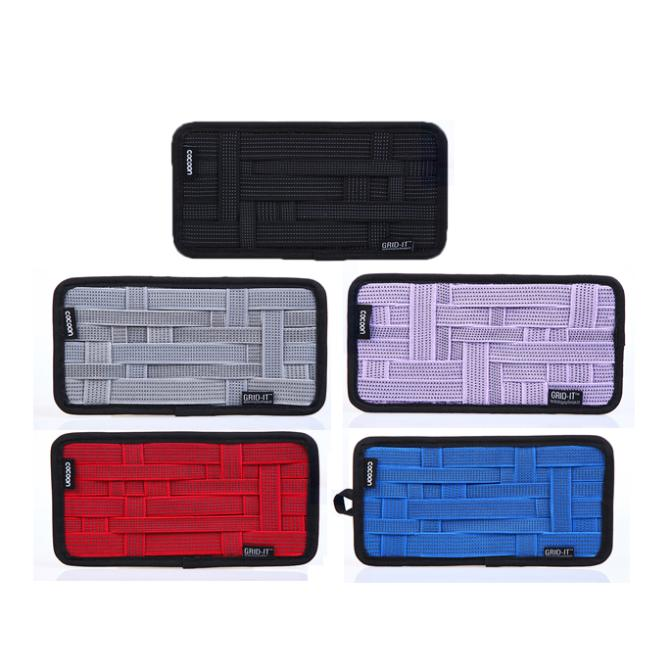 2014 26*13CM Grid Wrap Case Organizer Double Sided Rubber Cosmetic Electronics Gadget Storage Bags for Traveling Free Shipping(China (Mainland))