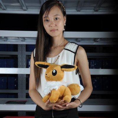 "12"" Eevee New pokemon Soft Stuffed Animal Plush toy(China (Mainland))"