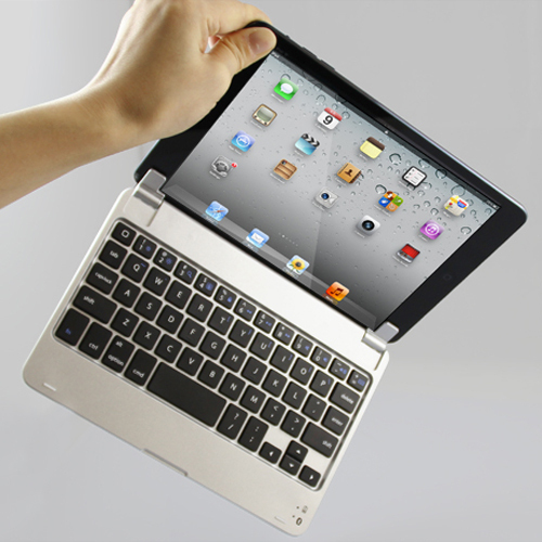 Slim Aluminum Wireless Bluetooth Keyboard Case Cover Apple iPad Mini 1 2 3 cases PIX 55R - hwachuang store