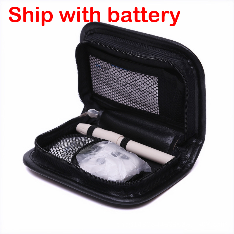 AnZhun blood glucose meters + lancet pen health monitor machine glucometer tester with black bag packet case+instruction