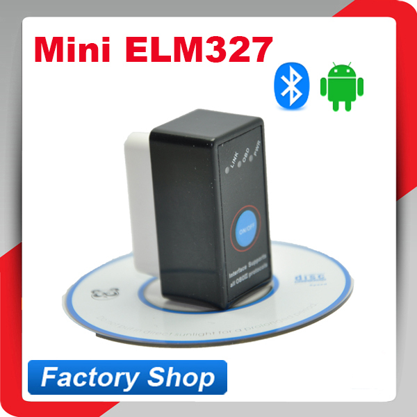 Super Mini Bluetooth ELM327 V2.1 ELM 327 OBD2 OBD ii CAN-BUS Diagnostic Car Scan Tool with Switch Works on Android(China (Mainland))