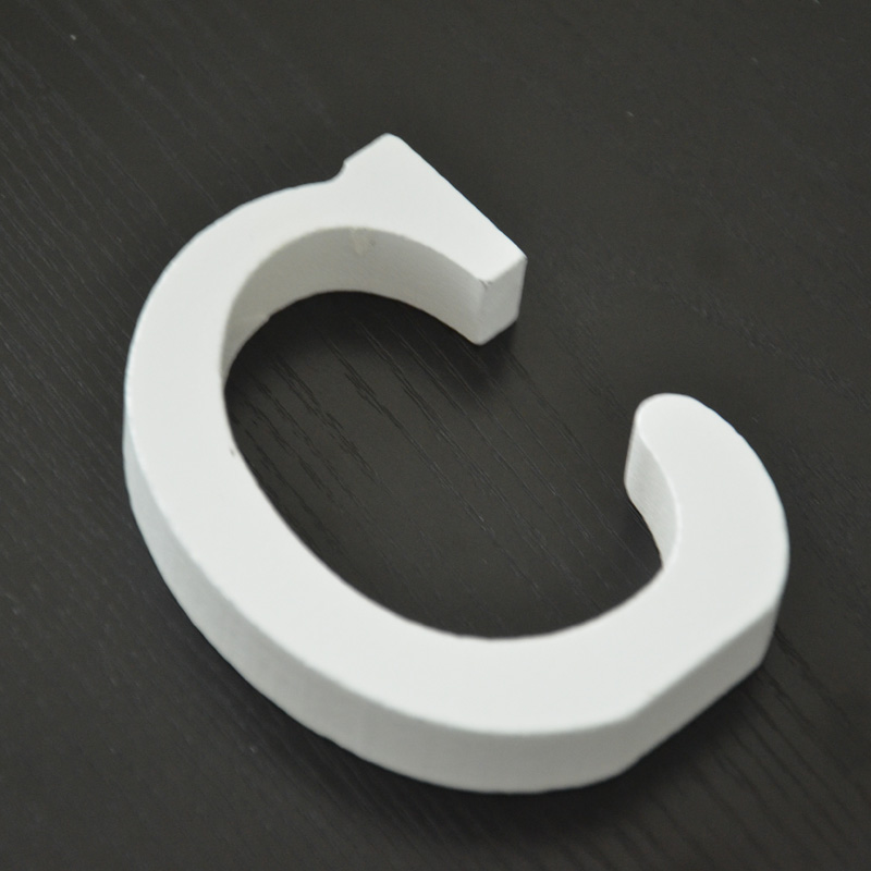 C letters shape decorative accessories wood craft free standing wedding part birthday item decoration accessories guide sign(China (Mainland))