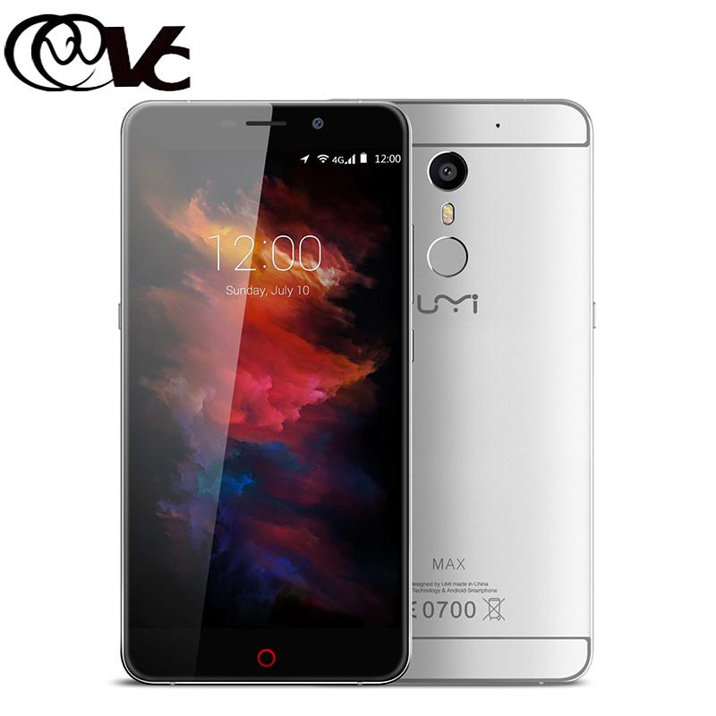 Umi Max Smartphone 5.5 Inch Android 6.0 MediaTek Helio P10 Mobile Phone 3GB RAM 16GB ROM Fingerprint Touch ID 4G LTE CellPhone(China (Mainland))