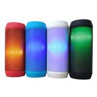 New Portable Pulse LED Light Stereo Wireless Audio Bluetooth Speaker With FM TF Card For Party Wholesale Free shipping