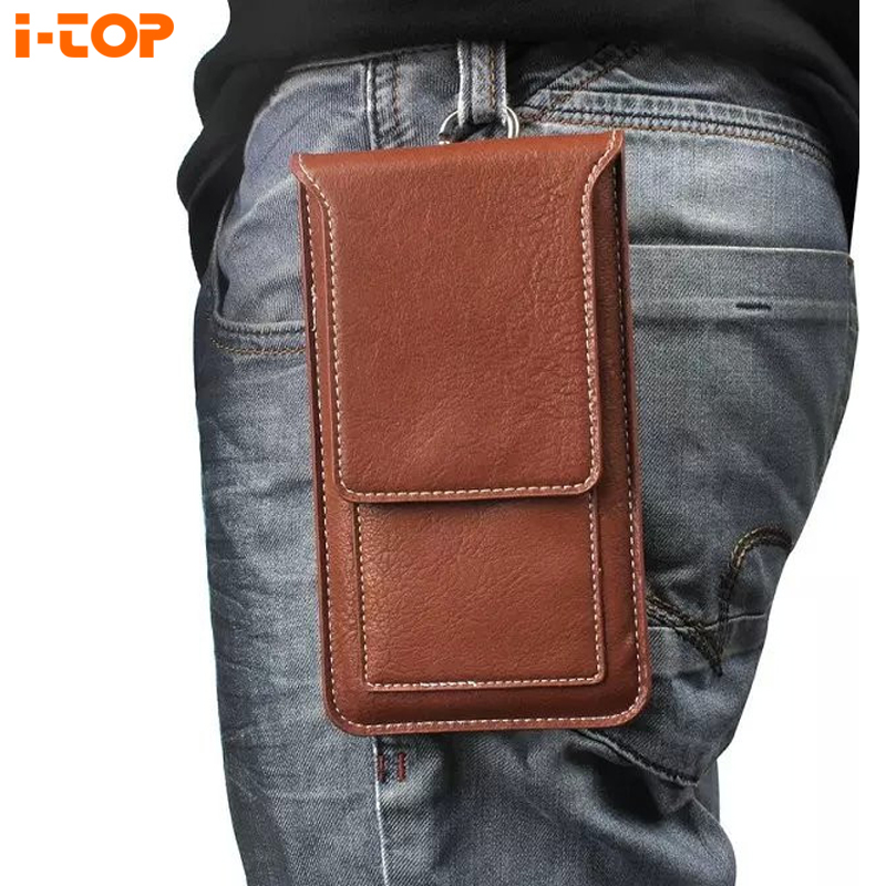 """Outdoor Belt Clip Holster Bag Hook Magnetic Pouch Leather Cover Case For blackview bv6000 Microsoft Lumia 550 630 4.7"""" Below(China (Mainland))"""