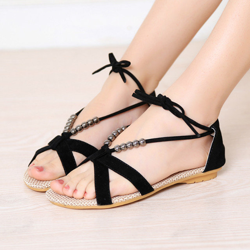 2015 summer new Korean Institute of wind ladies casual flat open-toed sandals tide shoes free shipping D54<br><br>Aliexpress