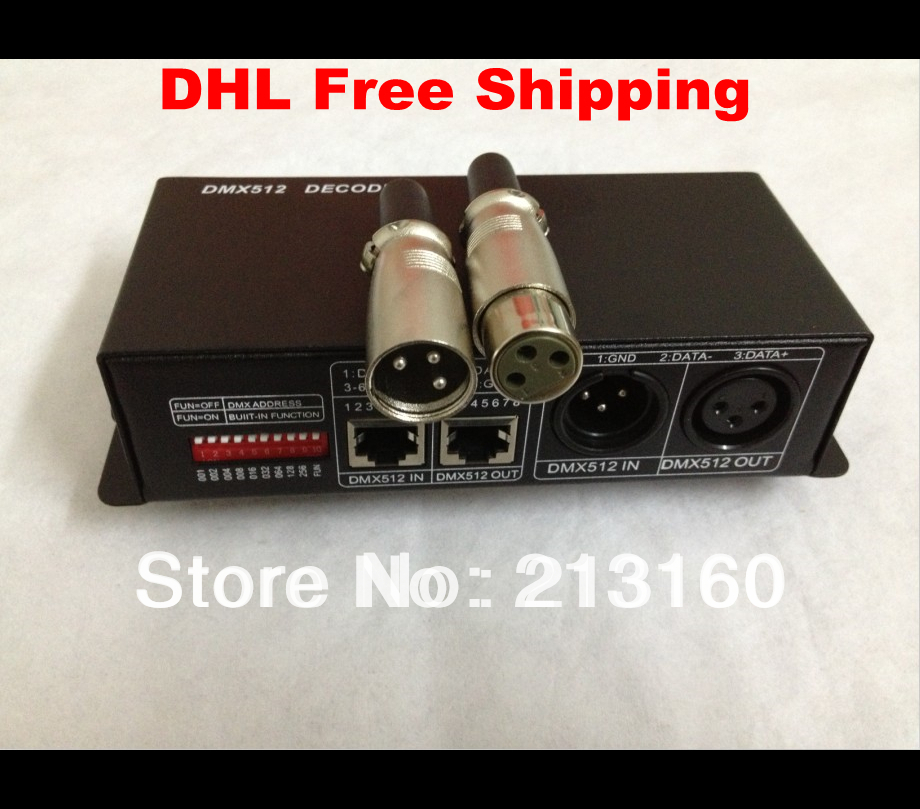 DHL Free Shipping led DMX PWM decoder RGBW controller 5-24V 4AX4Channels for RGBW strip(China (Mainland))