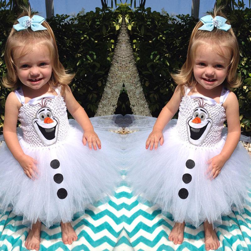 Olaf bonhomme de neige b b filles tulle robes b b fille - Bonhomme de neige olaf ...