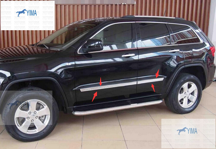 Фотография accessories For JEEP Grand Cherokee 2011-2013 ABS Door Side Body Molding Cover Trim