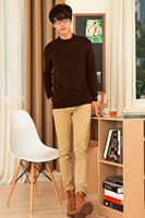 Adohon 2016 mens cashmere pullover fashion autumn hombre sueter sweaters for men Oneck Knitting Wool Plain Casual Blusa Feminina
